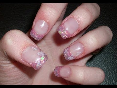 ACRYLIC NAIL TUTORIAL Butterfly Princess thumbnail