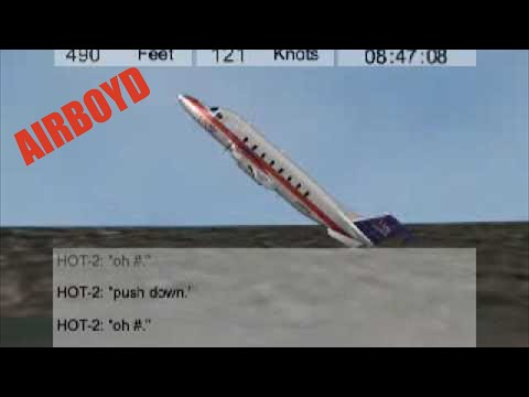 Air Midwest 5481 Beech 1900 Charlotte NTSB Animation
