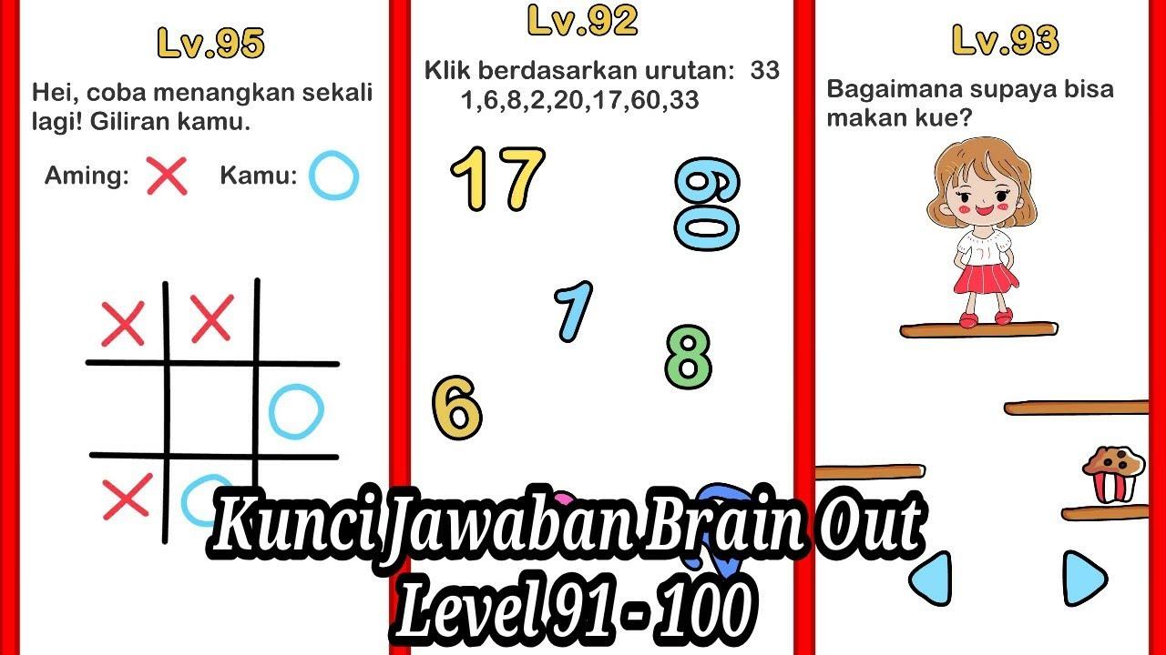 Kunci Jawaban Brain Out Level 91 100 Youtube