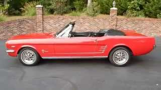 1966 Mustang Convertible, excellent, red, for sale Old Town Automobile in Maryland