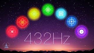 Full Night All 7 Chakras Opening, Balancing & Healing | 7 Chakra 432Hz Sleep Music & Meditation