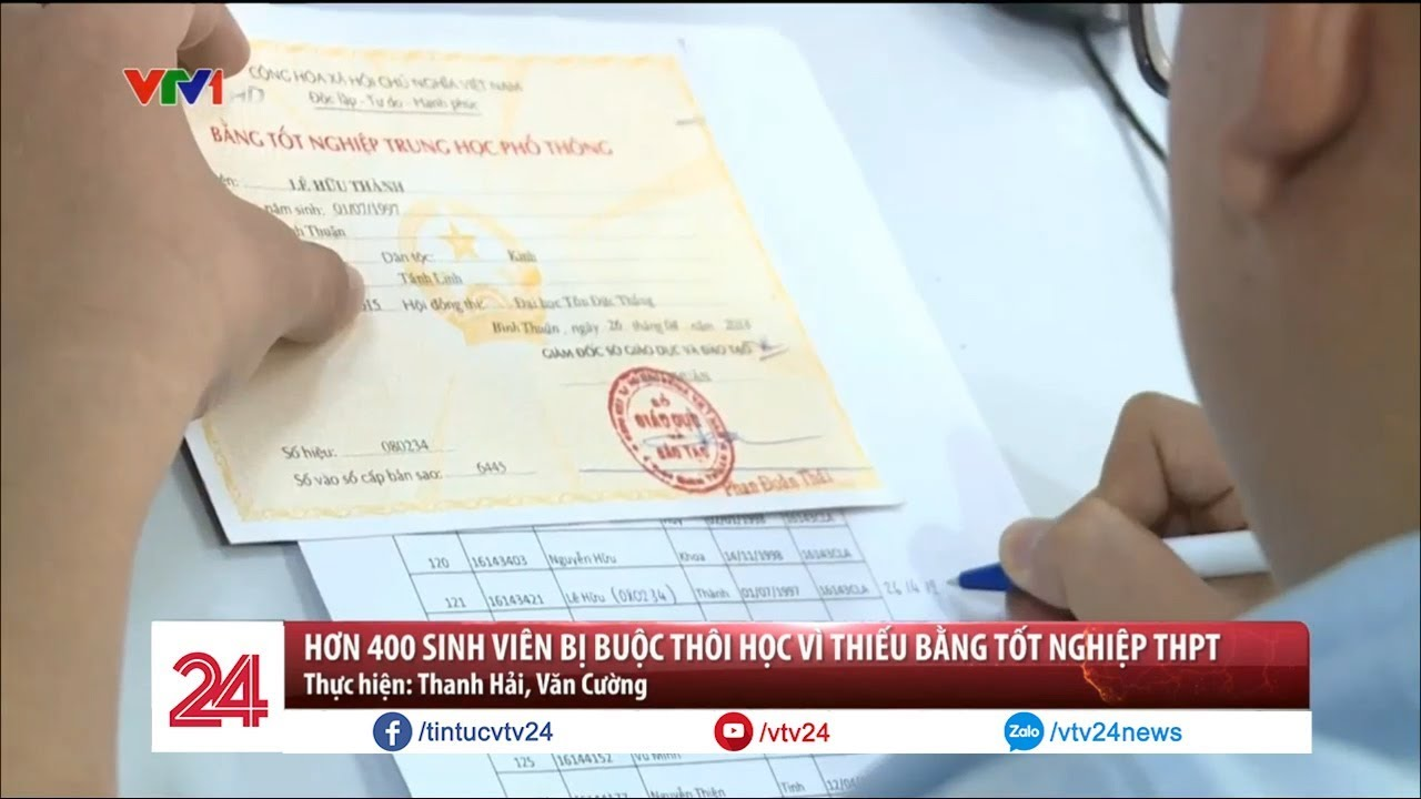 Hơn 400 sinh viên bị buộc thôi học vì thiếu bằng tốt nghiệp THPT | VTV24