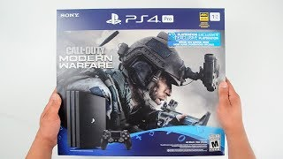 "PS4 Pro ""Modern Warfare Edition"" Console ASMR Unboxing - Playstation 4 Pro 1TB Bundle"