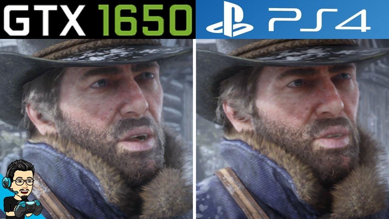 Red Dead Redemption 2 (RDR2) - PC v/s PS4 - Graphics Comparison (GTX 1650 vs Console)