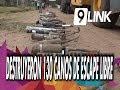 C9 - Sáenz Peña: destruyeron 130 caños de escape libre