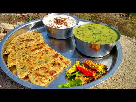 Traditional Indian Lunch Cooking in an Indian Village | Vegetarian Food Recipes