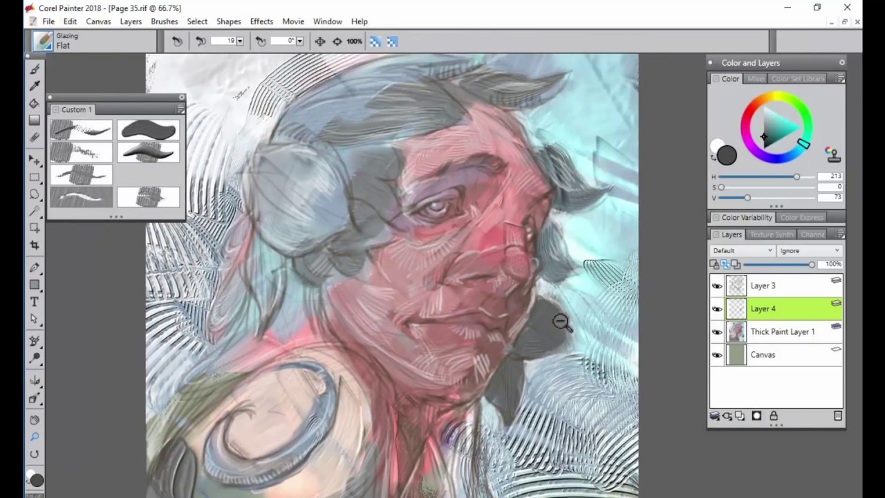 Corel Painter 2018 Digital Art Software Thick Paint For