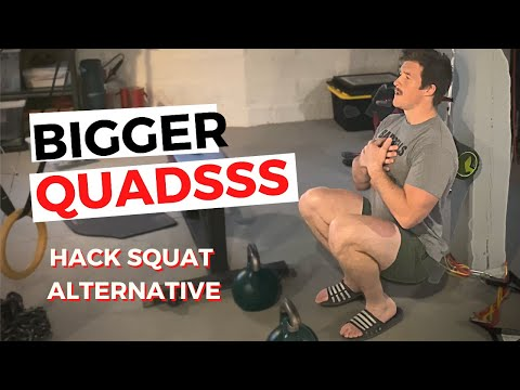 INTENSE LEG HOME WORKOUTS | Try This Hack Squat Alternative!