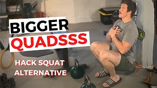 INTENSE LEG HOME WORKOUTS   Try this Hack Squat Alternative!