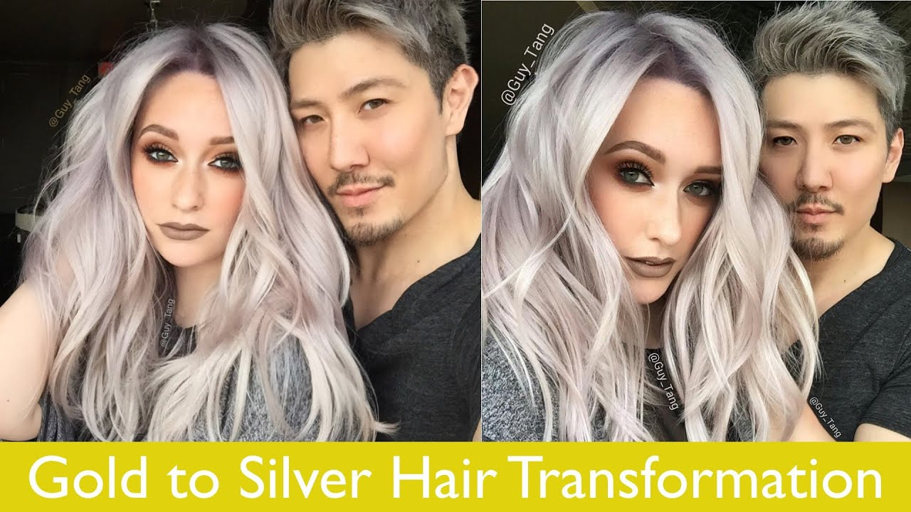 Gold To Silver Hair Transformation Youtube