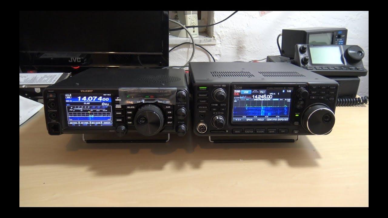 Yaesu FT-991a VS Icom IC7300 Comparison