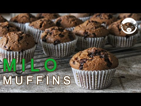 Milo Muffins | Milo With Chocolate Chips Muffins