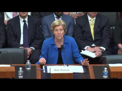 Senator Elizabeth Warren's Testimony on the Financial Choice Act