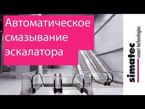 автоматическое смазывание эскалаторов и траволаторов с помощью лубрикатора Simalube