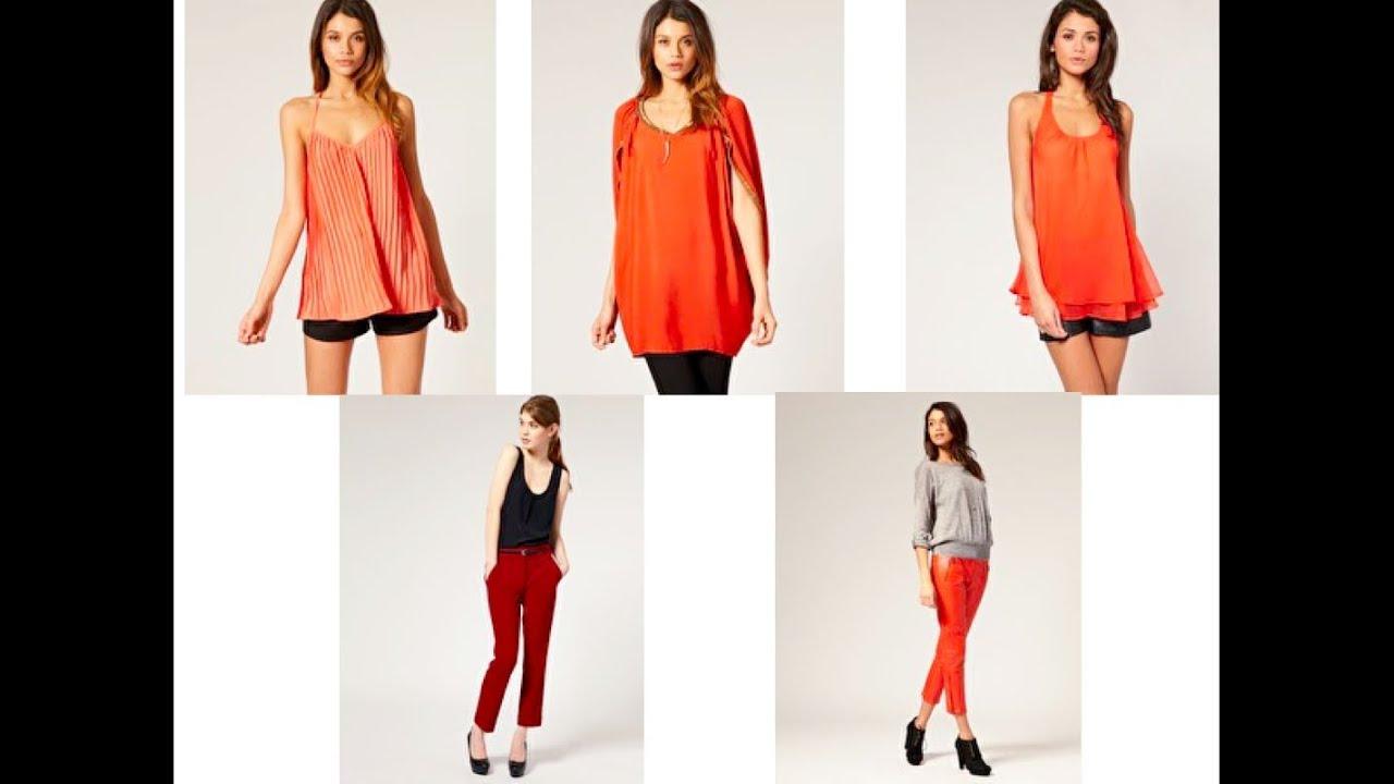 Tendencia p v 11 red cropped pants naranja youtube - Como conseguir color naranja ...