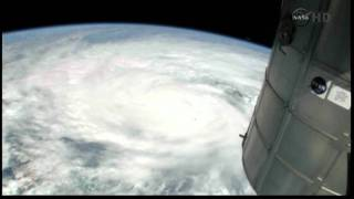 Nasa pictures show progress of Hurricane Irene