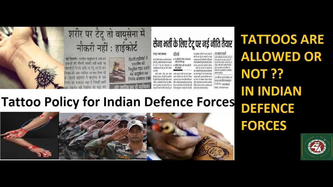 Tattoo Yes or No in Service Selection Board SSB- Indian Army, Indian ...