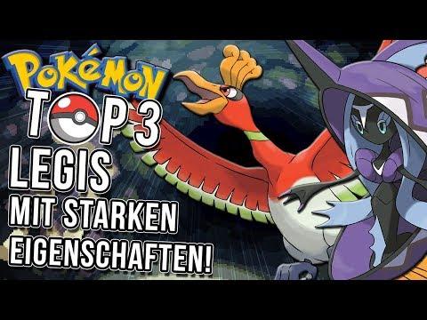 Top 3 der legendären Pokemon mit starken Eigenschaften!
