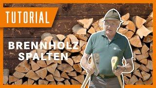 Brennholz spalten - Tutorial der Bayerischen Staatsforsten #BaySF