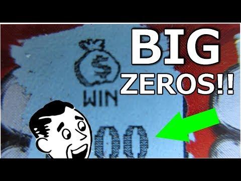 BIG ZEROS WINNER!! $50 SCRATCH-OFF LOTTERY TICKET PROFIT SESSION!!