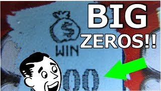 BIG ZEROS WINNER!! $50 SCRATCH-OFF LOTTERY TICKET PROFIT SESSION!!