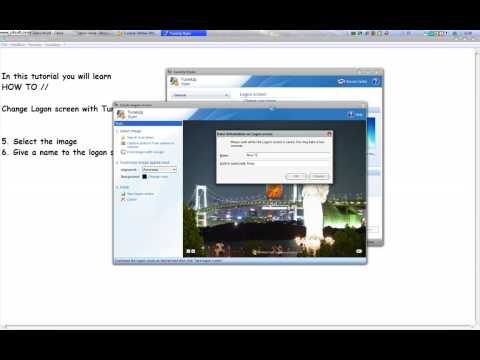 How to // Change the logon screen with Tune Up Utilities