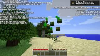 Asus F75A Minecraft test