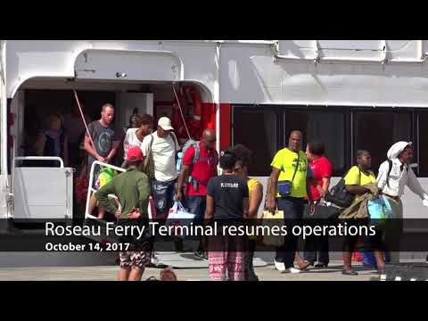 Oct. 14, 2017: Roseau Ferry Terminal resumes operations