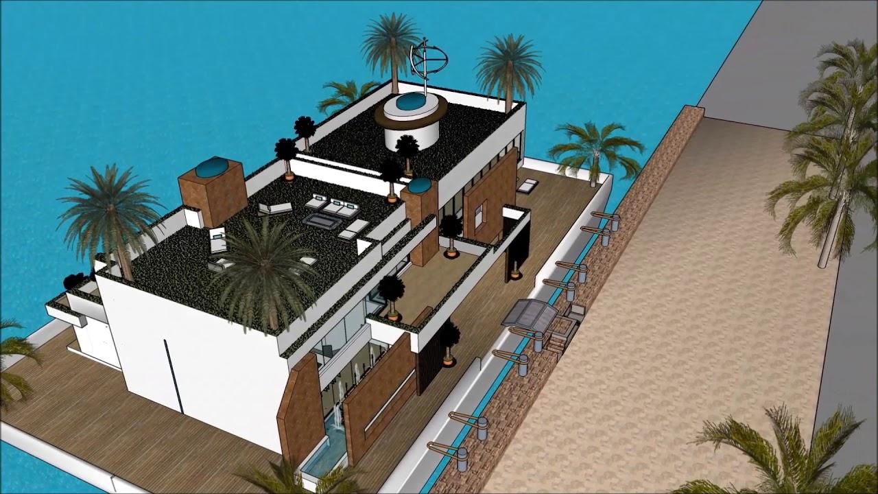 maison moderne maison de bateau Villa maison flottante maison moderne  Bateau esquisse Péniche conce