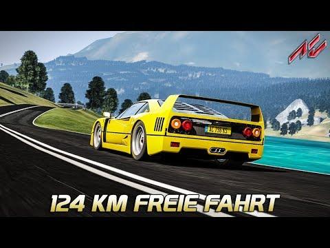 124 KM freie Fahrt! - Mod | Assetto Corsa German Gameplay [GER] [VR] Ferrari F40 @ Endine Lake