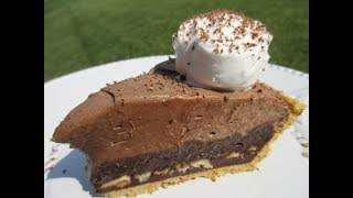 Triple CHOCOLATE MUD PIE in 5 minutes - How to make a CHOCOLATE PIE Recipe