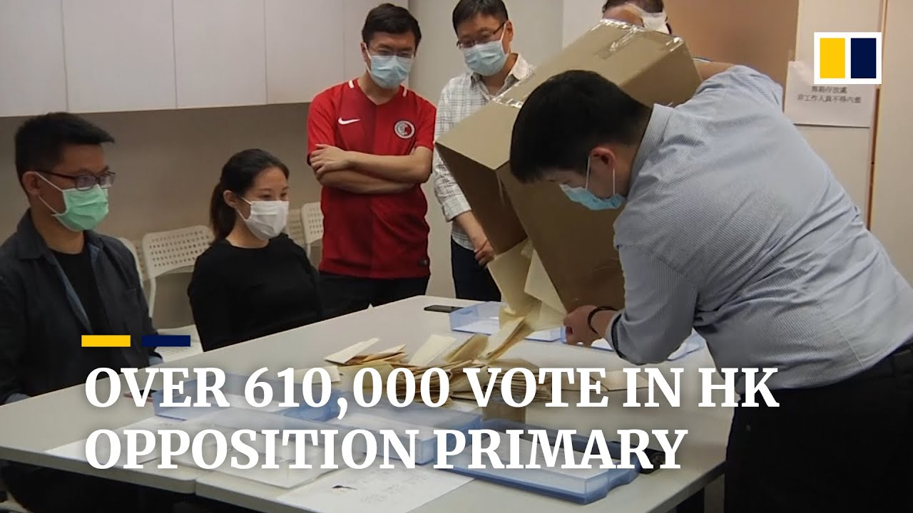 More than 610,000 vote in Hong Kong's pro-democracy opposition primary elections