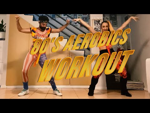 We try an 80's AEROBICS WORKOUT || International Dance Day || Jazzercise