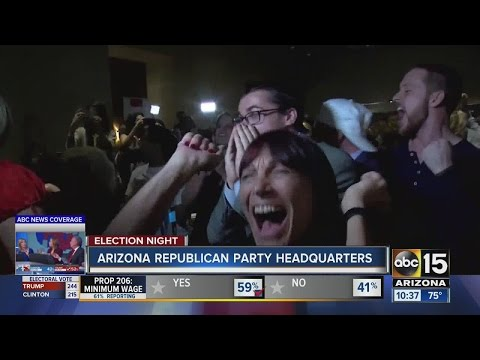 Election 2016: Spirits high as Arizona Republicans celebrate Donald Trump