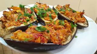 Баклажан Лодочка Рецепт фаршированого баклажана с сыром фета