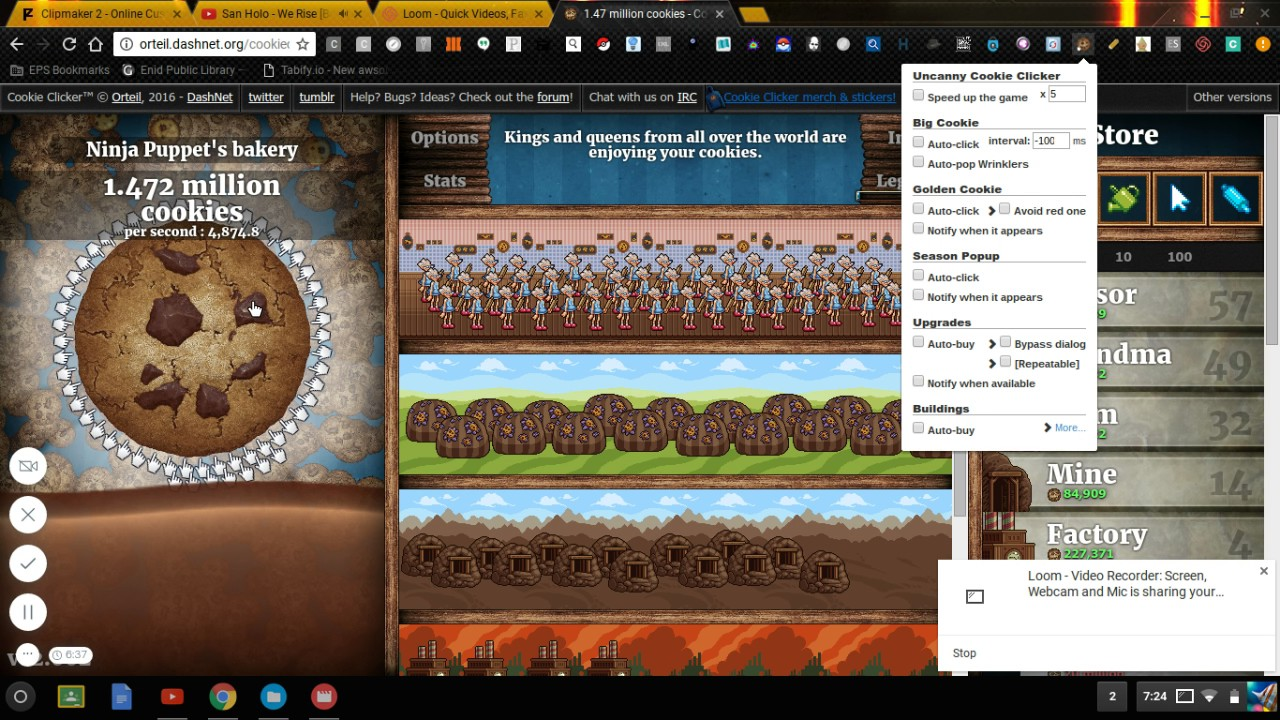 Cookie Clicker HACK!!!! only on chrome Book