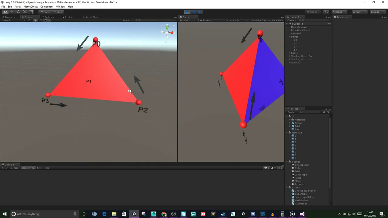 3D Procedural Mesh Generation Fundamentals in Unity : Vertices and Triangles