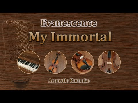 My Immortal - Evanescence (Acoustic Karaoke)