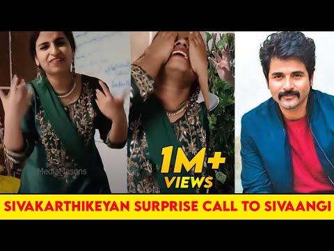 Sivakarthikeyan's Surprise call to Sivaangi   MediaMasons Surprise for Sivaangi