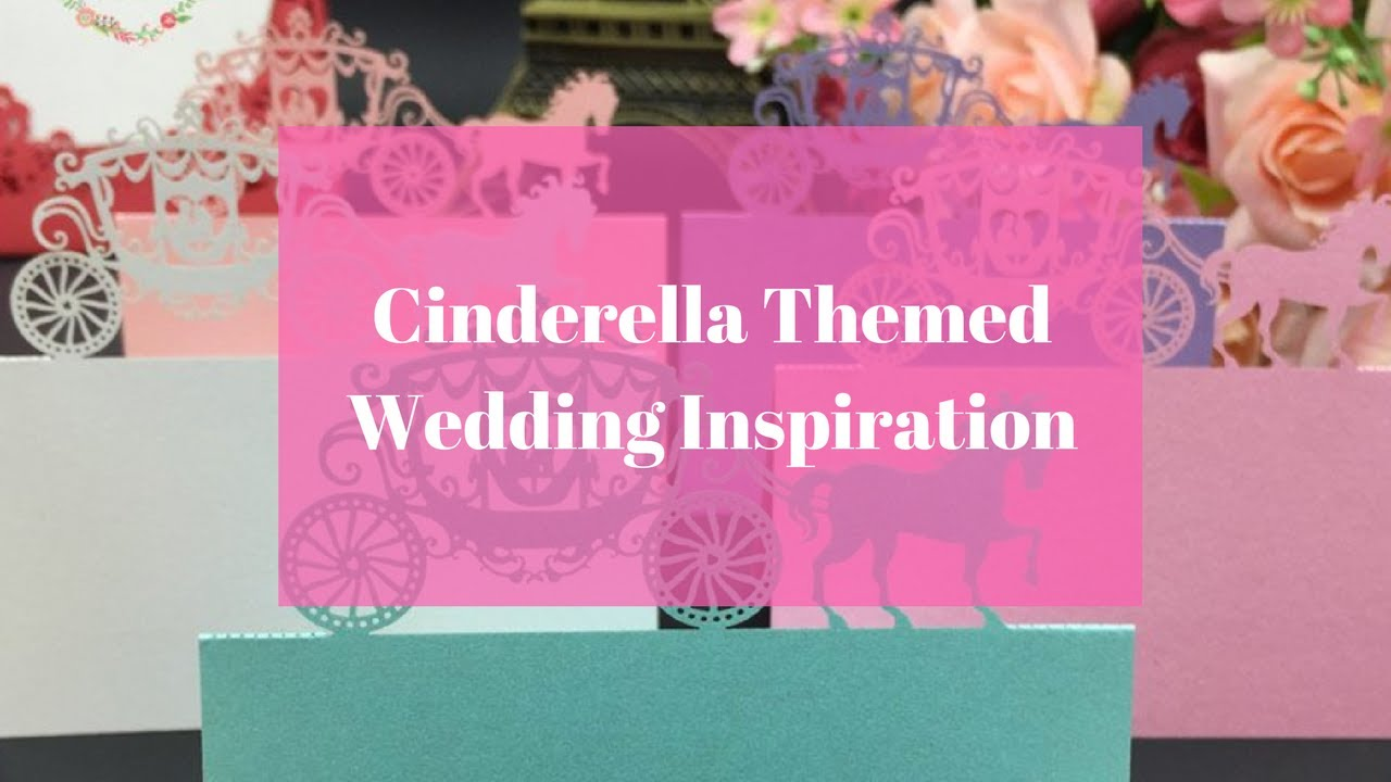Cinderella Themed Wedding Idea! Cheap and Easy To Do! - YouTube