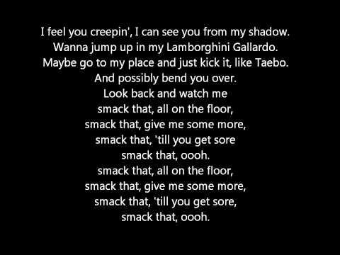 Akon ft. Eminem - Smack That (lyrics)
