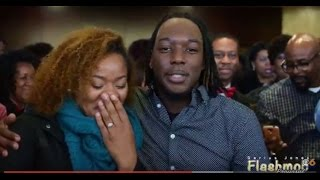 Man proposes in girlfriend during church Flash Mob
