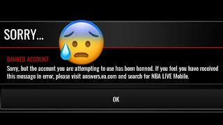 GETTING BANNED 5 DAYS BEFORE THE RESET... | NBA LIVE MOBILE!
