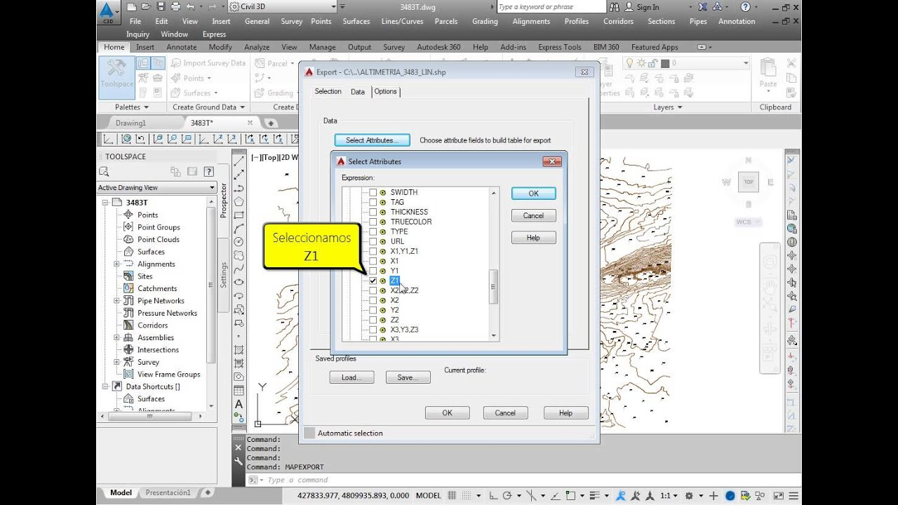 AutoCAD Drawing to Shape File by ESurveying Softech (India