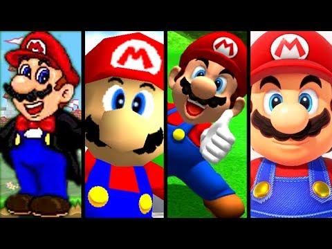 Super Mario Evolution of MARIO'S VOICE 1995-2017 (N64 to Switch)