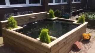 Easy Build, Raised Wooden Pond.(woodblocx)