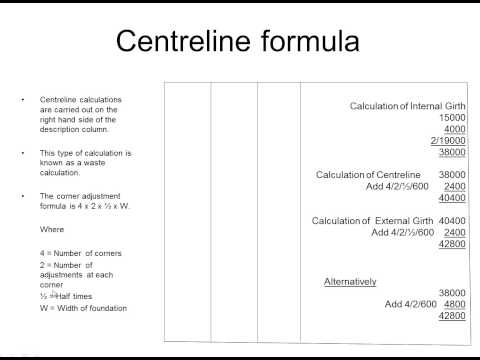 Centrelines and Girths for Quantity Surveying Students