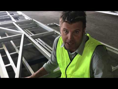 Imagine Kit Homes Factory Tour where steel frames and trusses are made
