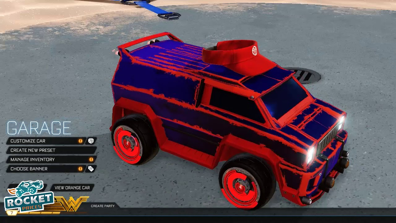 Rocket League Heatwave Car Designs - Blue & Red All ...