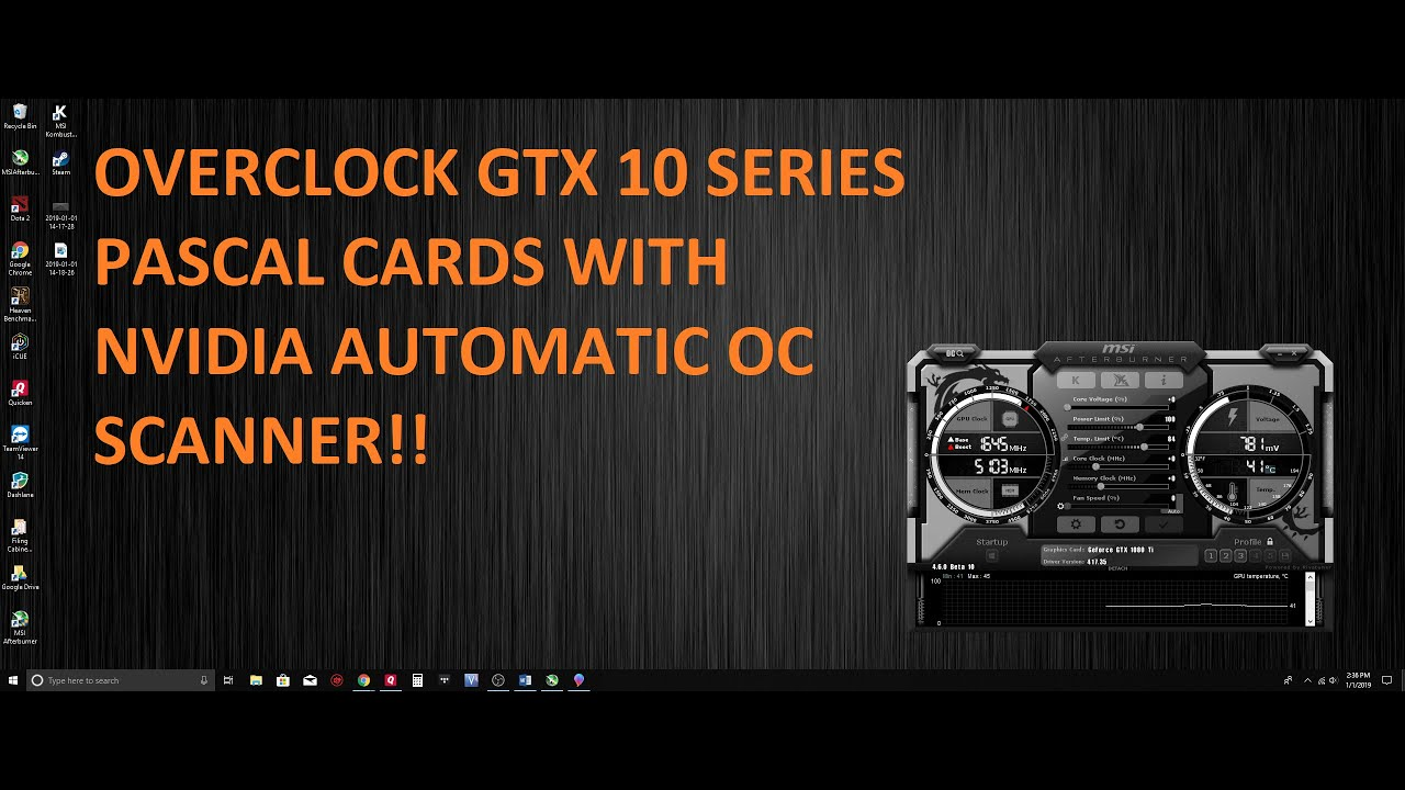 How to overclock GTX Series Pascal Cards with Nvidia OC Scanner! Geforce  GTX 1080, 1070 and more!!